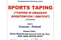Taping sportowy