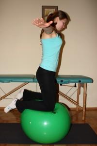 ćwiczenia na piłce 2