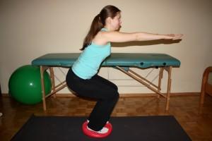ćwiczenia na dysku